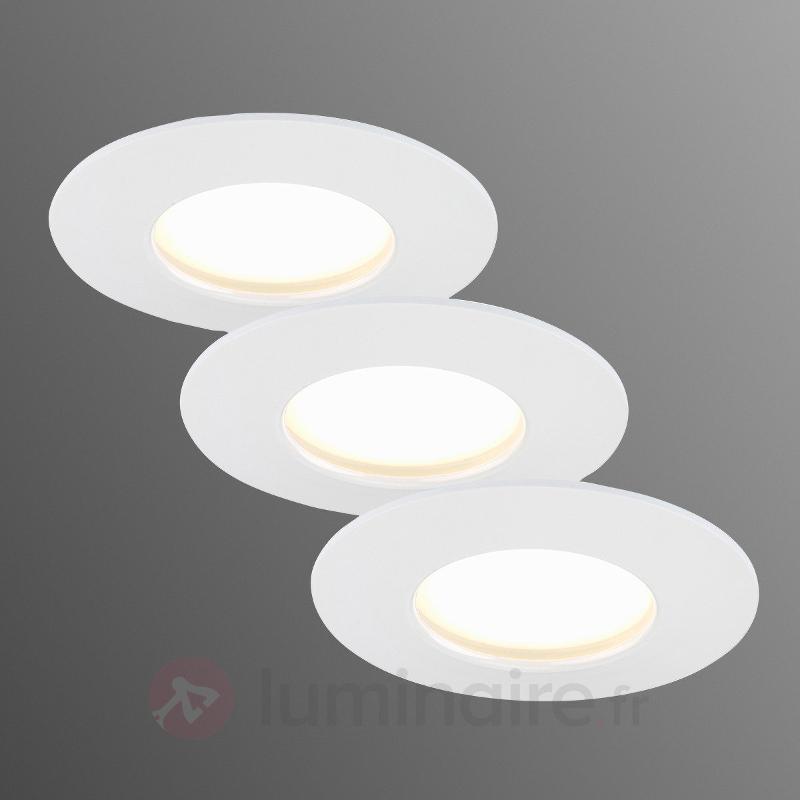 Set de 3 spots encastrés LED Nikas IP44 - Spots encastrés LED