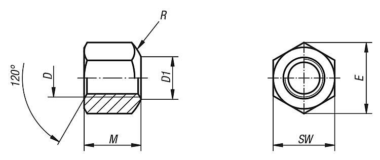 Ecrou à portée sphérique DIN 6330 extension de gamme - Accessoires