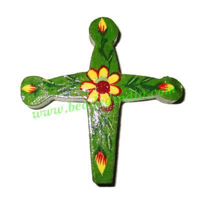 Handmade wooden cross (christian) pendants, size : 53x52x8mm - Handmade wooden cross (christian) pendants, size : 53x52x8mm
