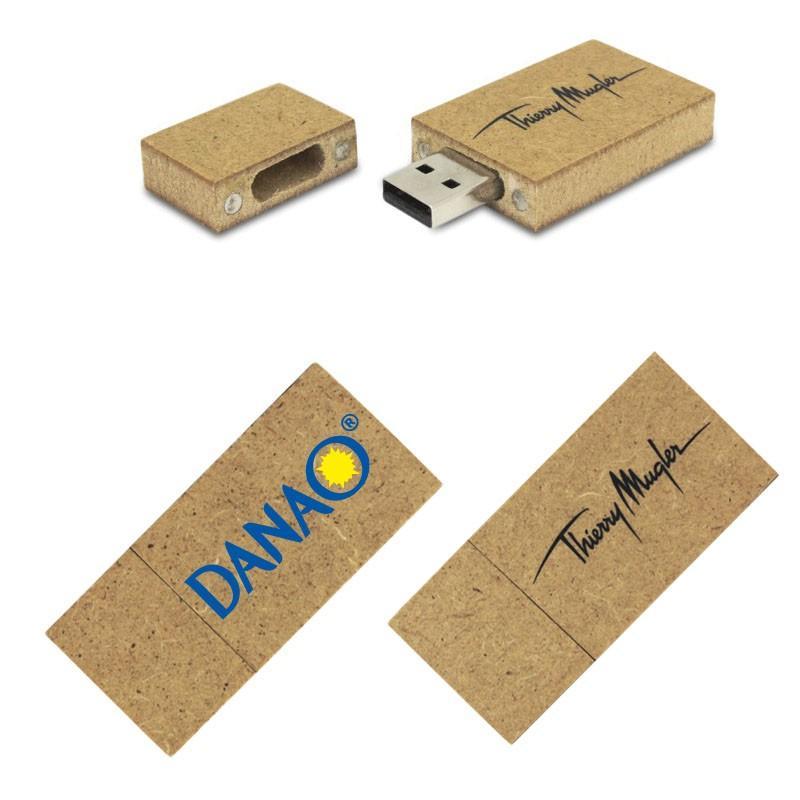 Cle USB Bois Recyclé Clair - Clé USB Bois & Biodégradable