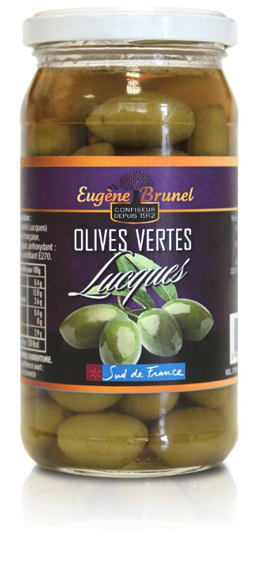 OLIVES VERTES LUCQUES / GREEN OLIVES LUCQUES 280G - Produits oléicoles