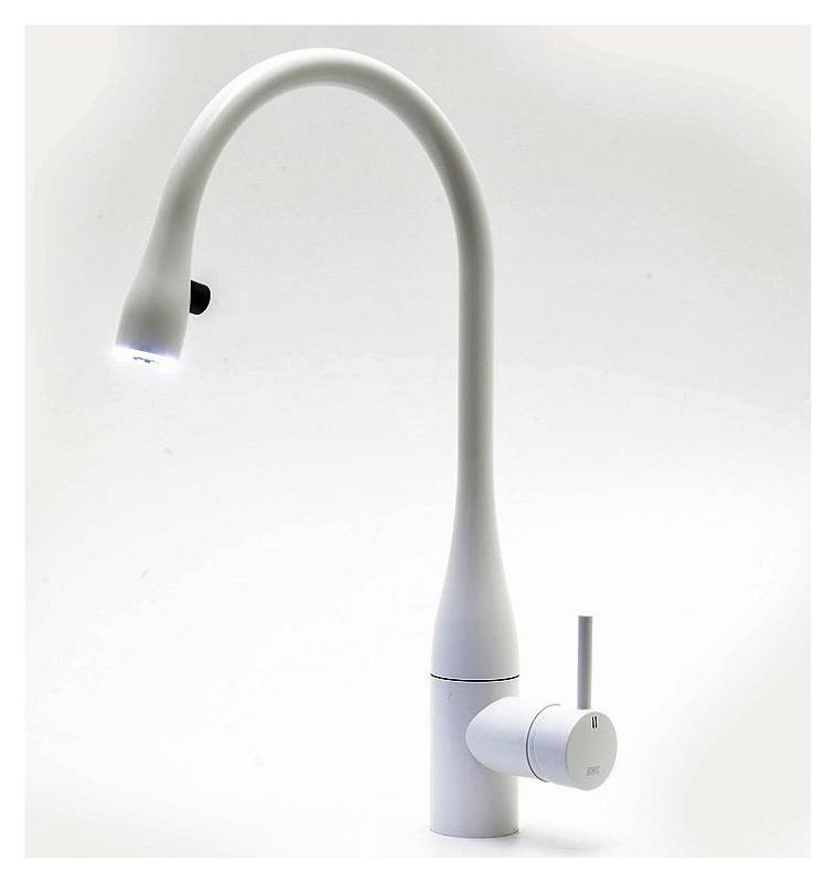 Single lever kitchen mixer with pull-out spout EVE – Glacier white - Shop products