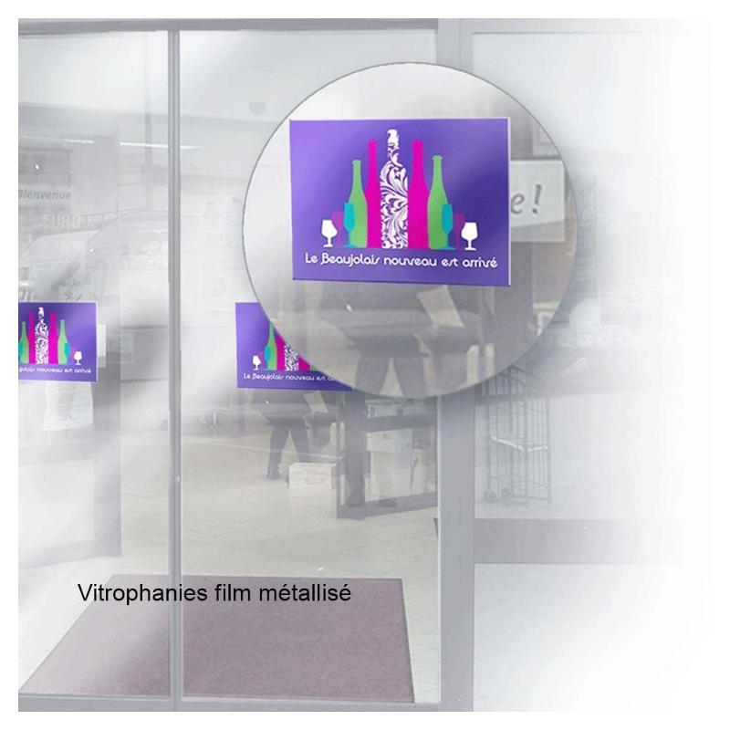 Vitrophanies - Etiquettes personnalisées multi-usages et synthétiques