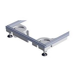 Hydraulique lift castor (set) - Set: 4 unités de soulèvement incluant pompe hydraulique et tubes de raccordement