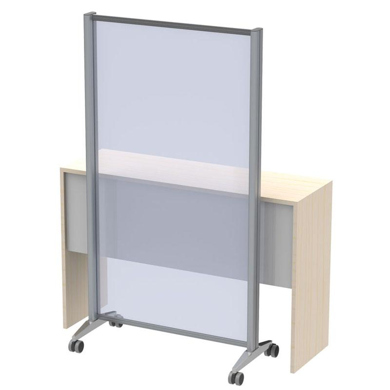 MOBILE COUGH VIRUS PROTECTION WALL AND STUD WALL - COUNTER STAND / Alumium / polycarbonate screen, 4 mm