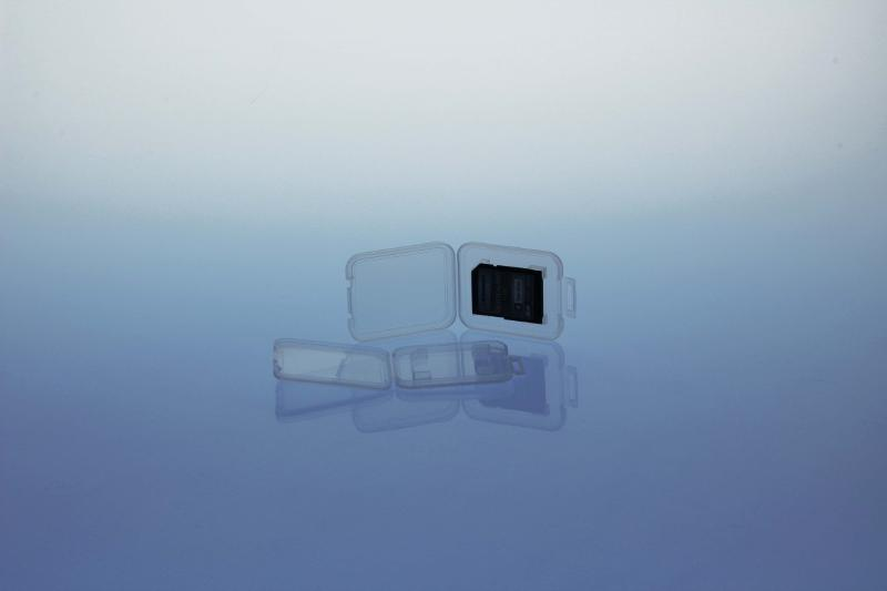 Kartenbox für 1 SD Speicherkarte - transparent - SD-Card