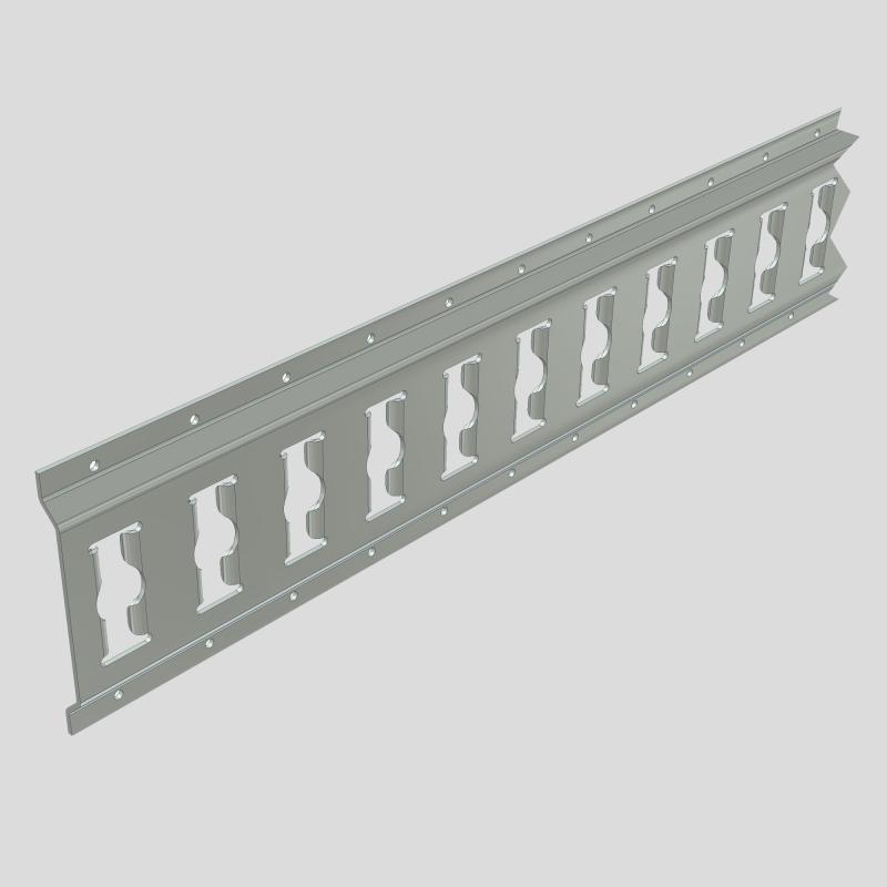 Galvanized combi-track horizontaly installed - combi-track