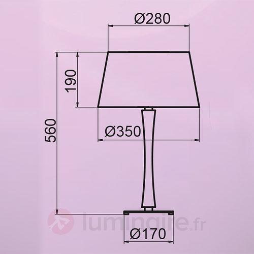 Lampe à poser Beverly It aspect chromé - Lampes à poser en tissu