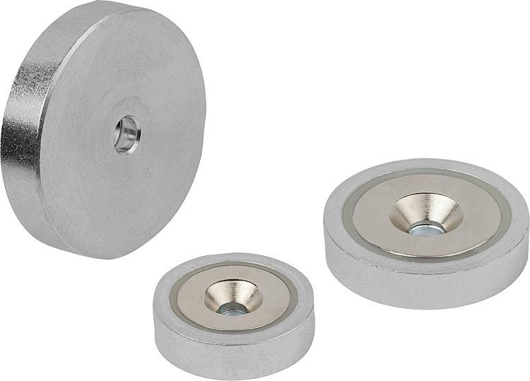 Magnets Shallow Pot With Countersink Ndfeb - Magnets