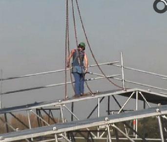 Installation d'échafaudage pour bâtiments classés