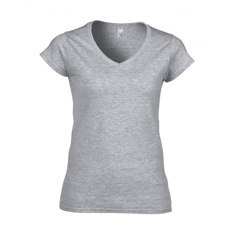 Tee-shirt femme col V Softstyle® - Manches courtes