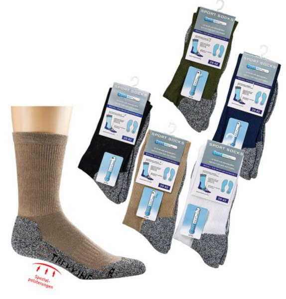 6946 - COOLMAX® Trekking Socks - With full-terry sole and paddings - protecting and shock absorbing. 40% COOLMAX.