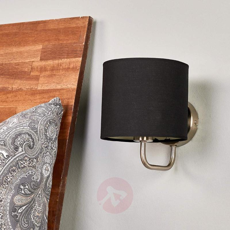 Fabric wall light Enna with E14 LED lamp - Wall Lights