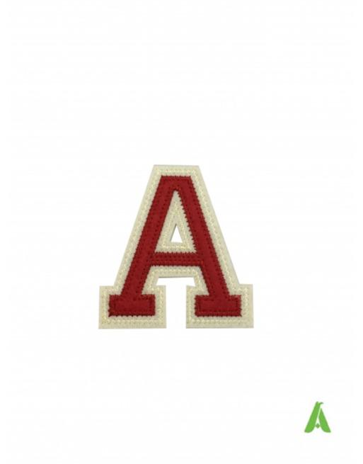 Lettere e numeri college per abbigliamento  - Lettere e numeri college per abbigliamento da cucire o termoadesivare