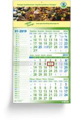 3 Months calendars - 3 Months Eco Memo
