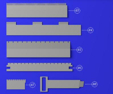 PRECUTTING KNIVES FOR BLISTER PACK - PACKAGES OF UNIT DOSE PRE-FILLED SYRINGES, UNIT DOSE PIPETTES