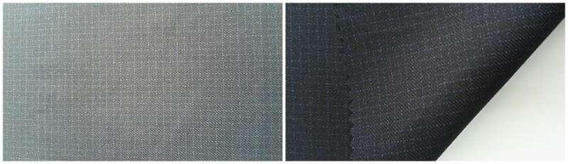 lana / poliéster /brillante fibra 80/3.2/16.8 - hilo teñido raya / vapor terminar