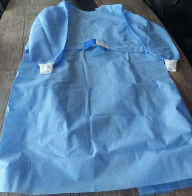 surgical gown - SMS materials ,blue colour ,40 gsm