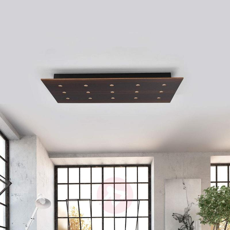 Dimmable ceiling lamp Juri made of wood - Ceiling Lights
