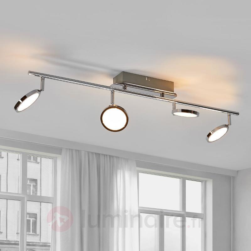 Plafonnier cuisine LED attrayant Hazel à 4 lampes - Plafonniers LED