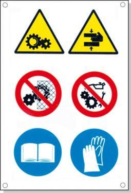 Cartelli pericolo rischi residui E - null