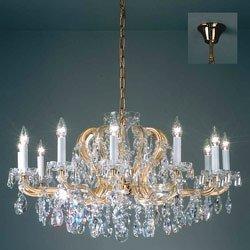 Lustre Schönbrunn à 8 lampes et or 24 carats - Lustres designs, de style