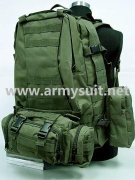 USMC US Army Tactical Molle Assault Backpack Bag OD - PNS-BA28