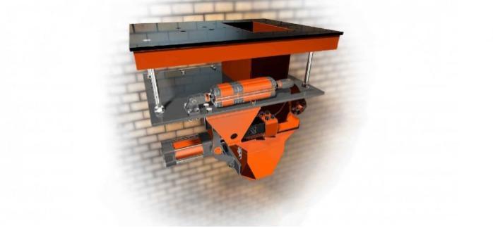 Dispenser fyllning av öppna påsar - DFSM-dispensern är utformad för att fylla öppna påsar