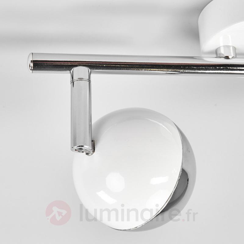 Projecteur à deux LED Arvin, blanc - Spots et projecteurs LED