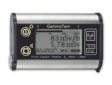 GammaTwin - bauartzugelasenes Dosisleistungsmessgerät