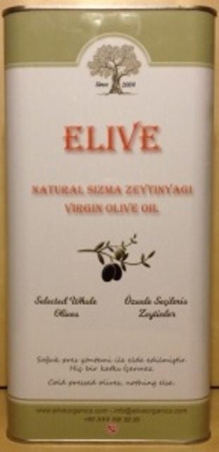 Elive Virgin Olive Oil - 5Lt Tin