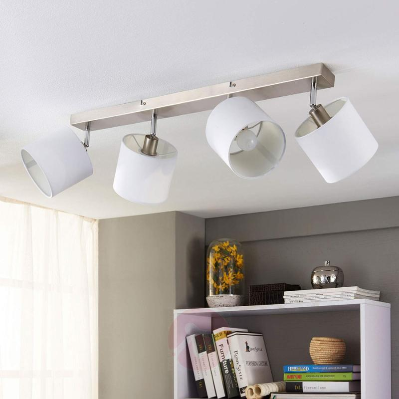 Fabric ceiling light Mairi with LED lamps - indoor-lighting