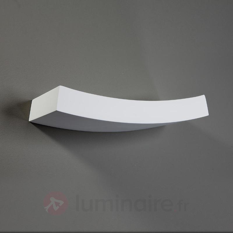 Applique légèrement courbée Leander à peindre - Appliques en plâtre
