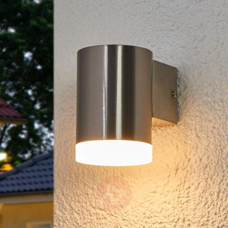 Downward facing LED outdoor wall light Eliano - stainless-steel-outdoor-wall-lights