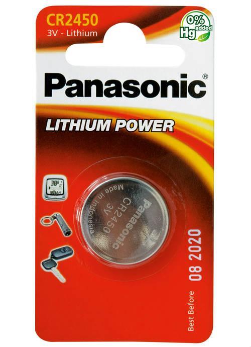 Batterie al litio a bottone CR2450 - CR-2450L/1BP | Blister da 1 microbatteria specialistica Panasonic