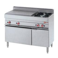 GAMME ALPHA 650 - GAS COOKING RANGE SOLID TOP