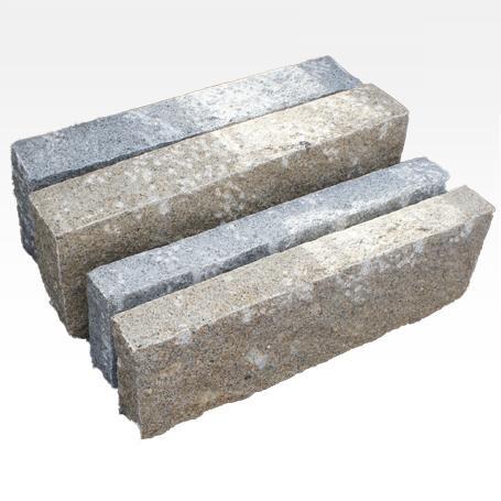 Bordures en Granit Rustique Jaune - Pierres de granit rustique forme pour trottoir.
