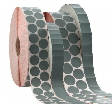 adhesive labels, made from grey special fabric,... - grey special fabric, Steierform 87-60157