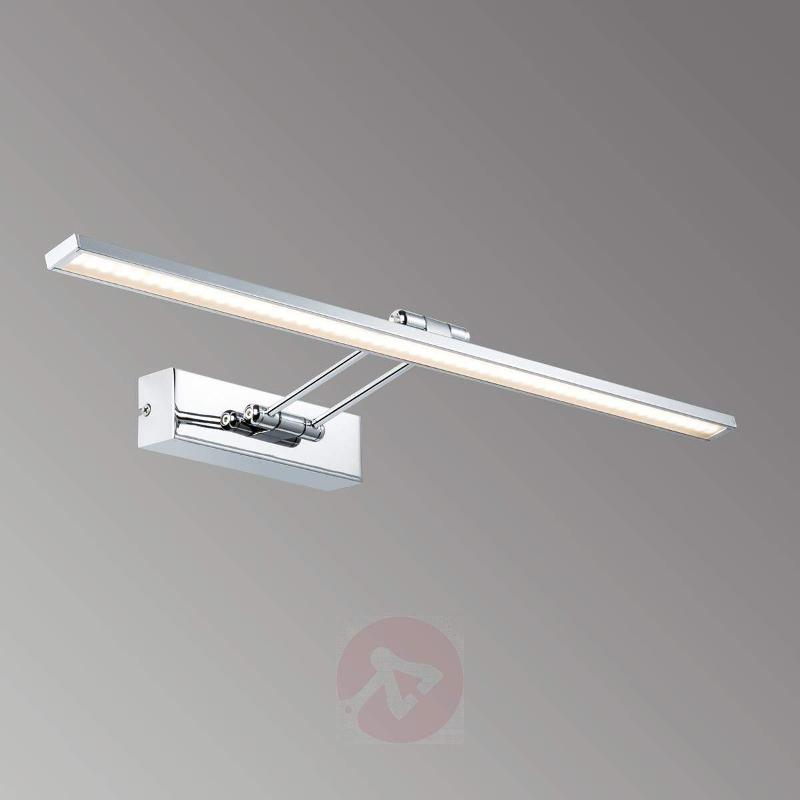 Chrome-plated Galeria LED picture light Beam Sixty - Picture Lights
