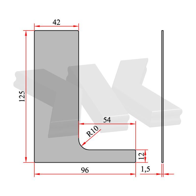 End cap left to RKL 40003038 - Kraus Railing Lite Profiles