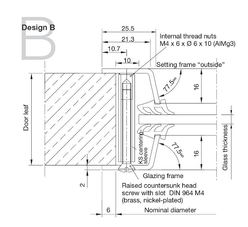 Aluminium Porthole Design B -