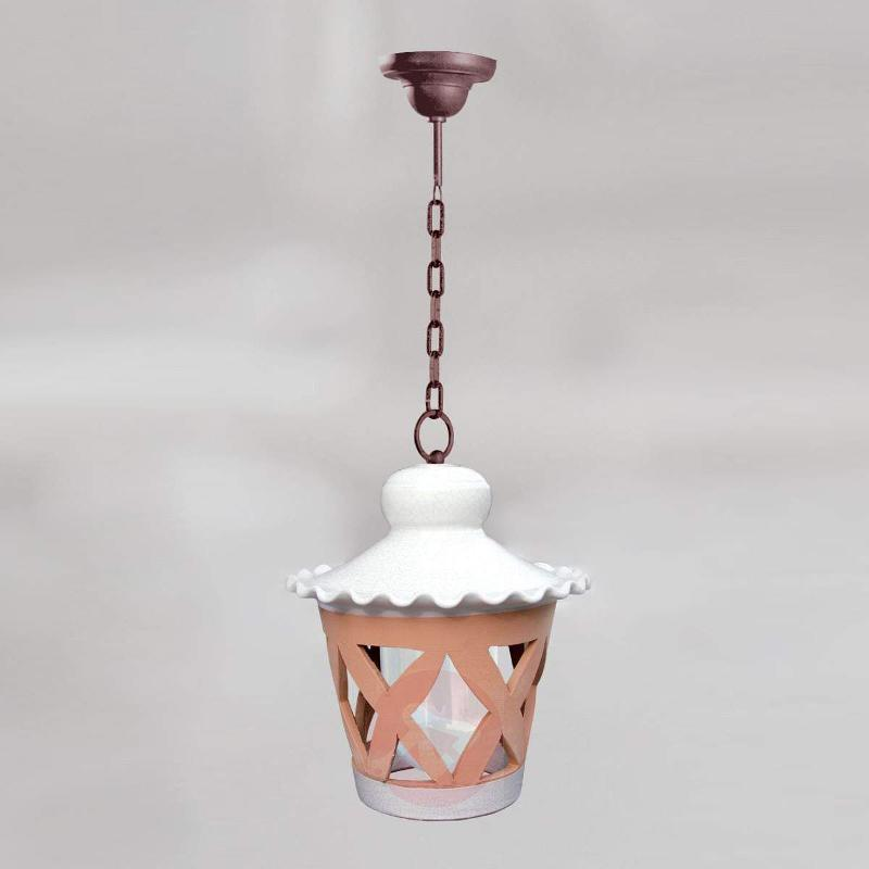 Hanging light Anthea, ceramic lampshade