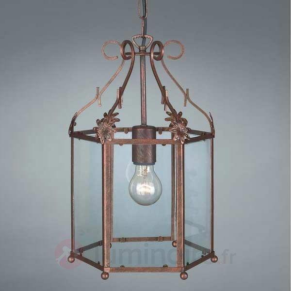 Suspension RONYA, en forme de lanterne - Suspensions rustiques