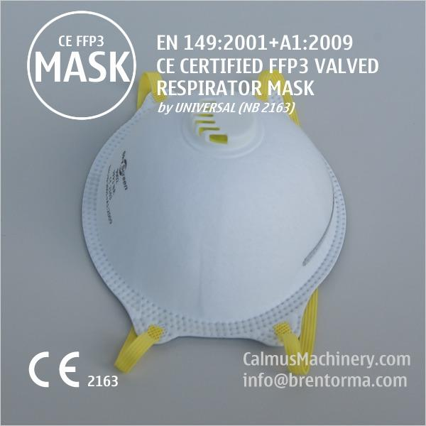 Good-Price CE Certified FFP3 Cup Respirator Mask with Valve - Valid-CE-Mark Approved FFP3 Valved Face Mask Respirator 99% Filtering Efficiency