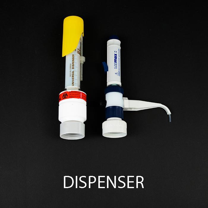 Dispenser - 0,1-1,0 ml, 1,0-5,0 ml, 2,0-10,0 ml