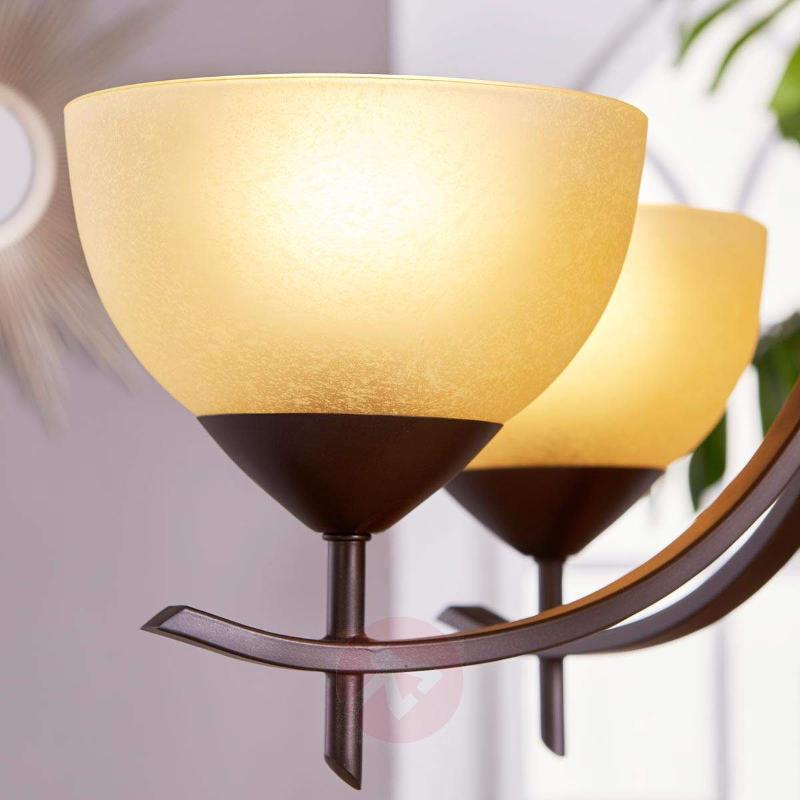 Hanging light Janos with 5 glass shades - Pendant Lighting