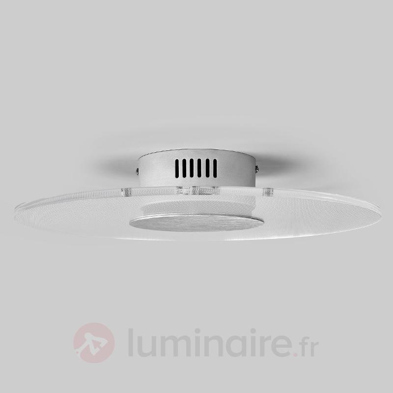 Plafonnier LED rond Liam, diffuseur transparent - Plafonniers LED