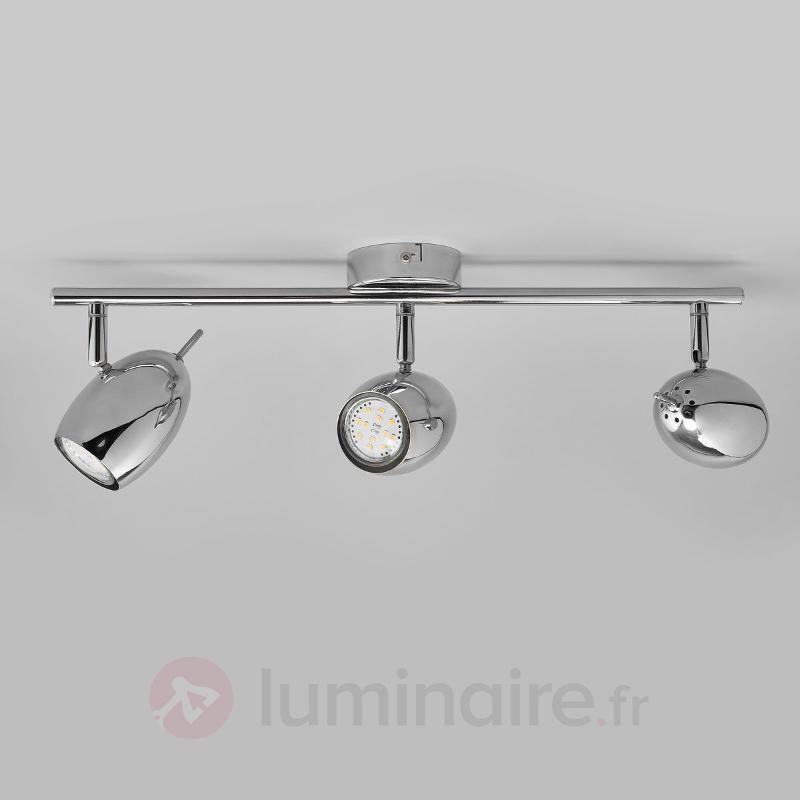 Plafonnier LED Philippa à 3 lampes, chromé - Spots et projecteurs LED