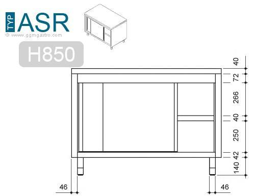 Work cabinet - Workcabinet 1,8m - with sliding door