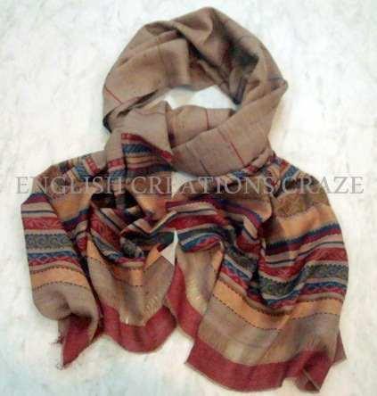 Wool Woven Checks Scarves - Wool Woven Checks Scarves